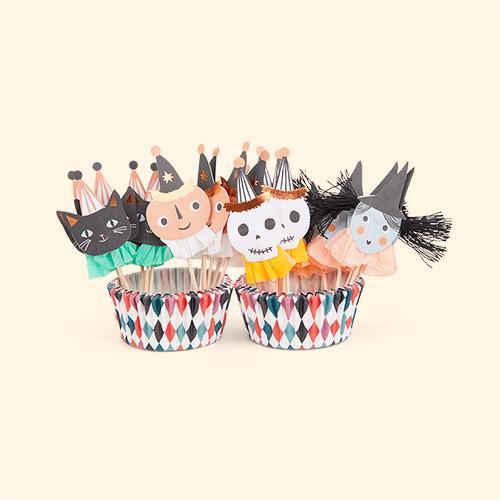 Multi Meri Meri Vintage Halloween Cupcake Kit