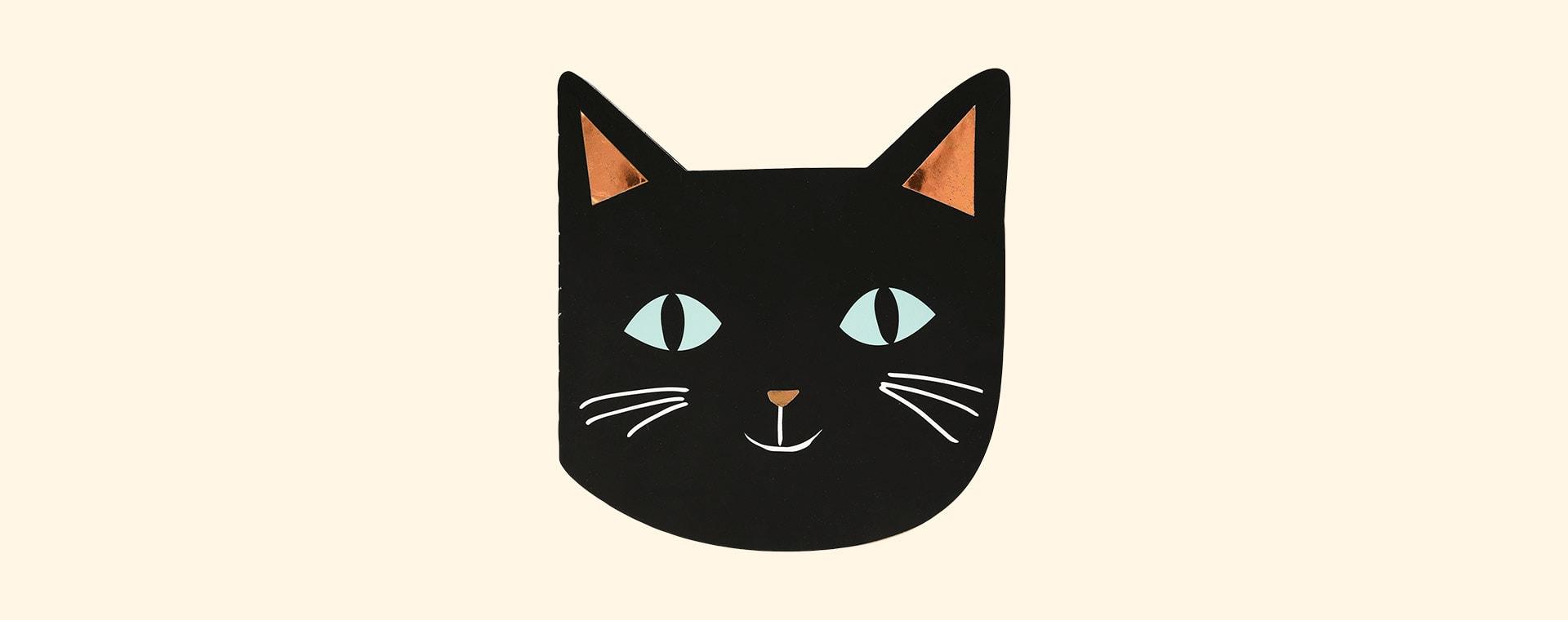 Black Meri Meri Halloween Cat Sticker And Sketch Book