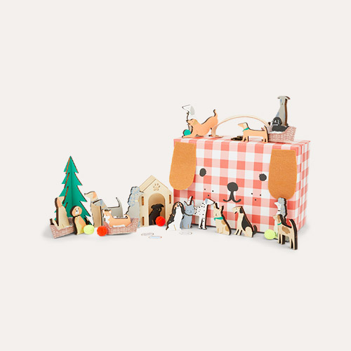 Multi Meri Meri Wooden Dog Advent Suitcase