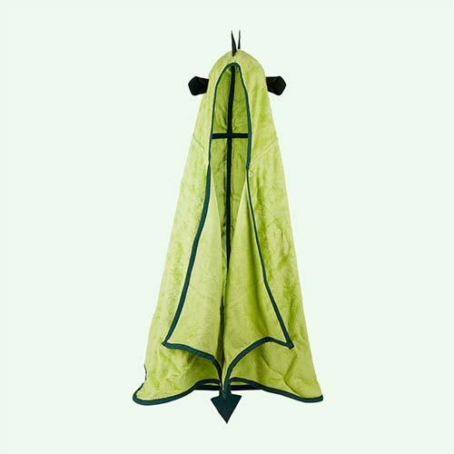 Green Cuddledry Cuddleroar Hooded Bath Towel