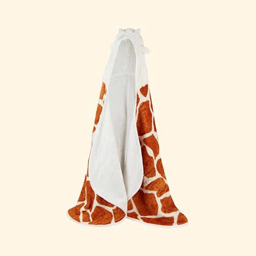 Brown Cuddledry Cuddlesafari Hooded Bath Towel