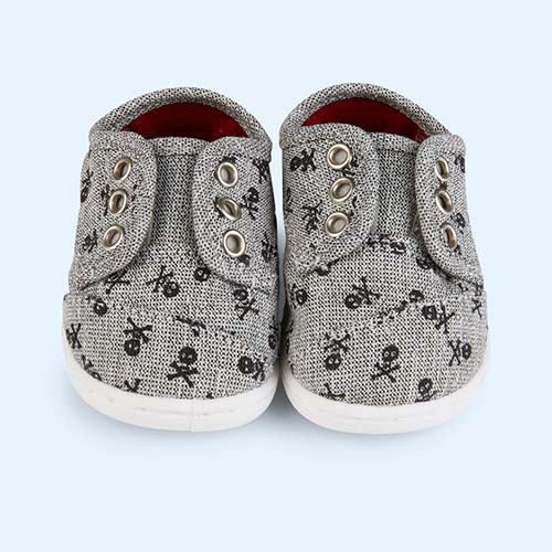 Skull Toms Tiny Toms Canvas Paseo Shoes