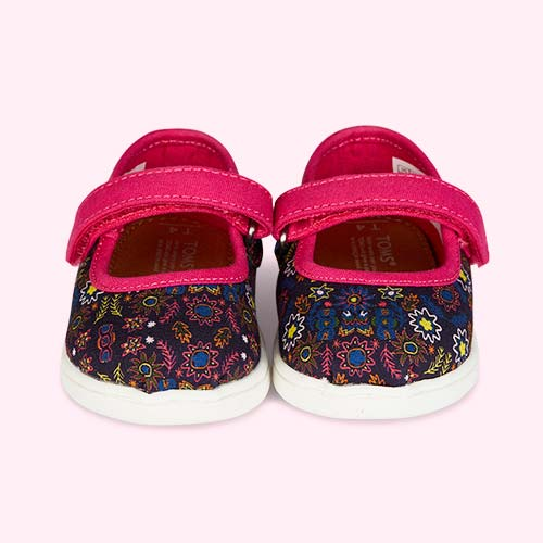 Forest Floral TOMS Classic Mary Jane Shoe