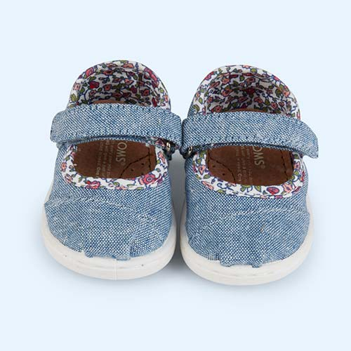 Light Chambray Toms Tiny Toms Classic Mary Jane Shoe