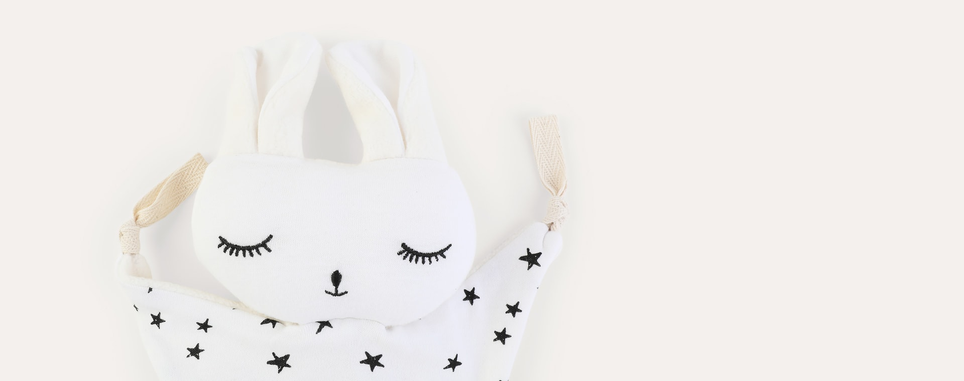 White - Stars Wee Gallery Cuddle Bunny