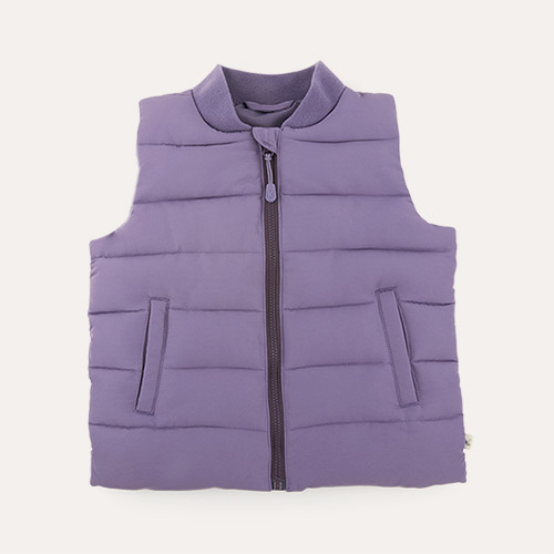Blueberry KIDLY Label Recycled Padded Gilet