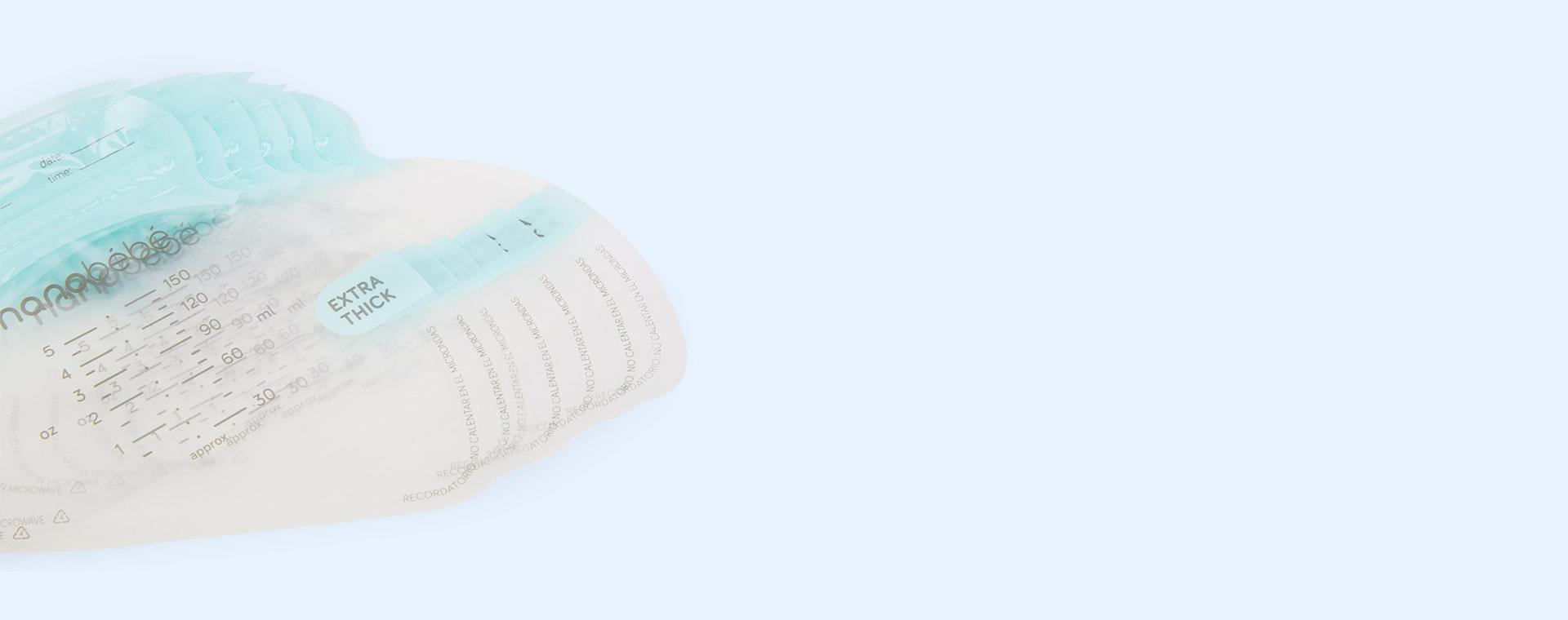 Clear nanobébé 25 Breast Milk Storage Bags and Organiser