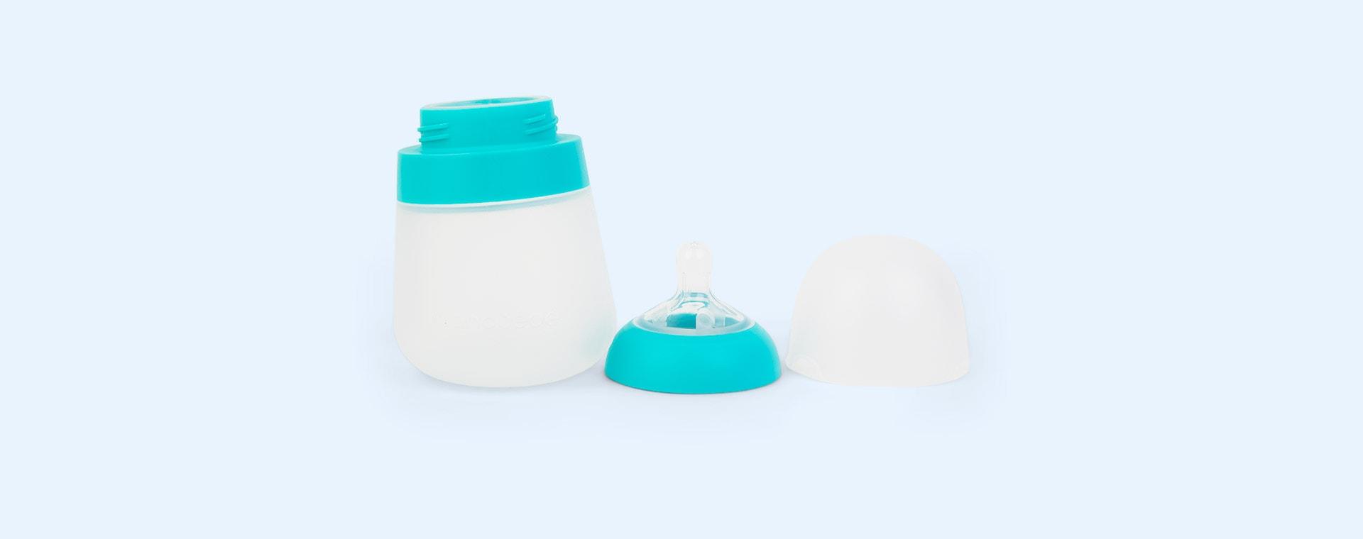 Teal nanobébé 3-Pack Flexy Silicone Baby Bottles