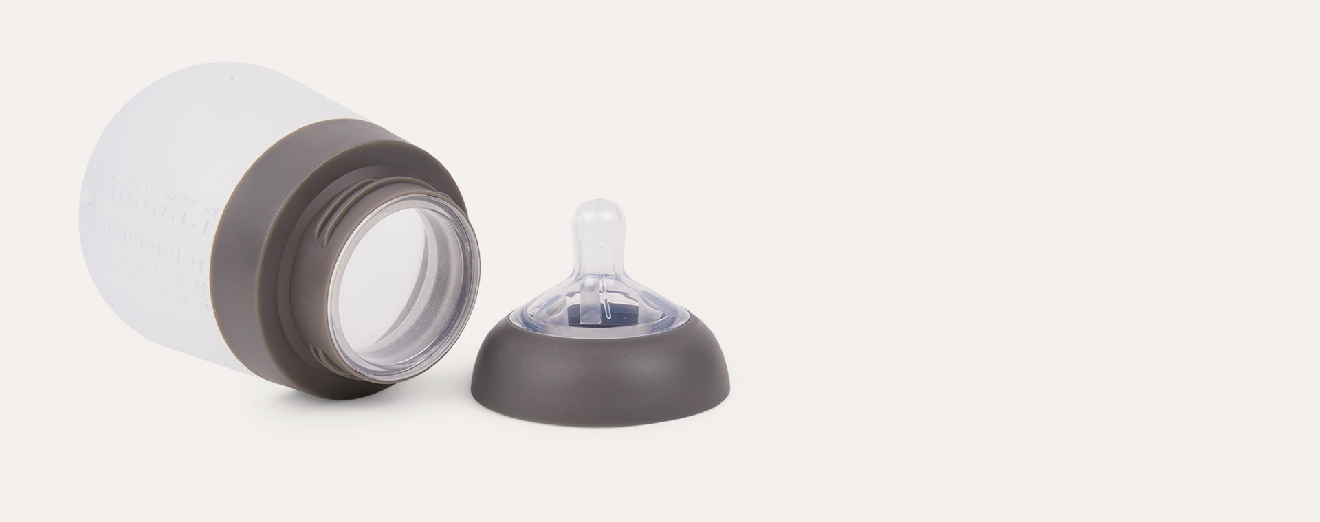 Grey nanobébé 3-Pack Flexy Silicone Baby Bottles