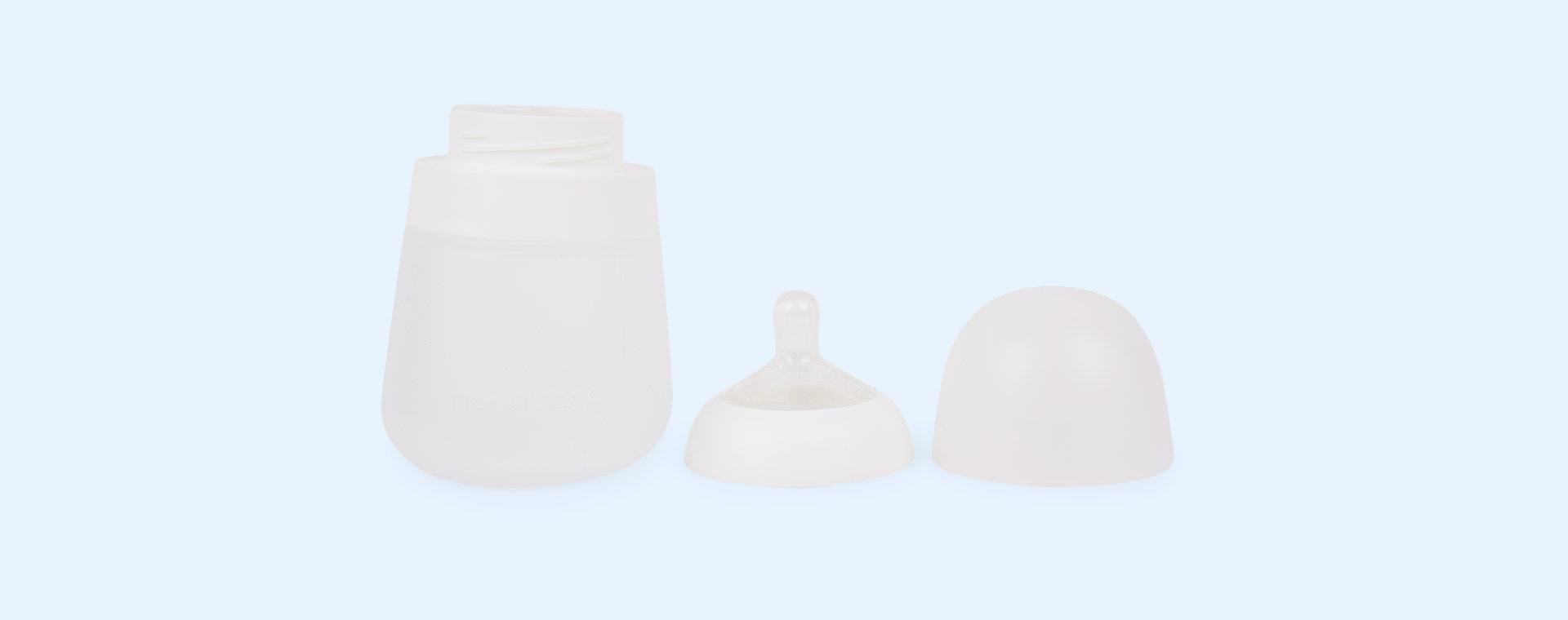 White nanobébé 2-Pack Flexy Silicone Baby Bottles