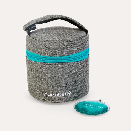 Grey nanobébé Baby Bottle Cooler Bag & Travel Pack