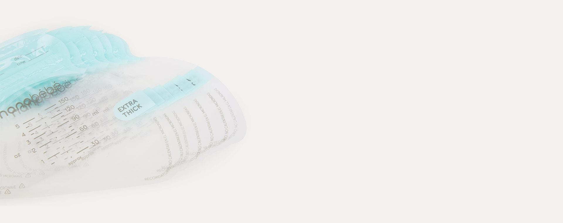 Clear nanobébé 50 Breast Milk Storage Bags