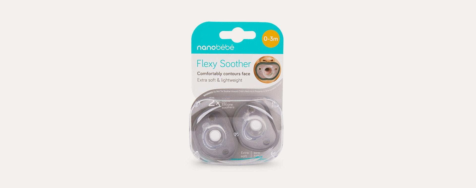 Grey nanobébé 2-Pack Flexy Soothers