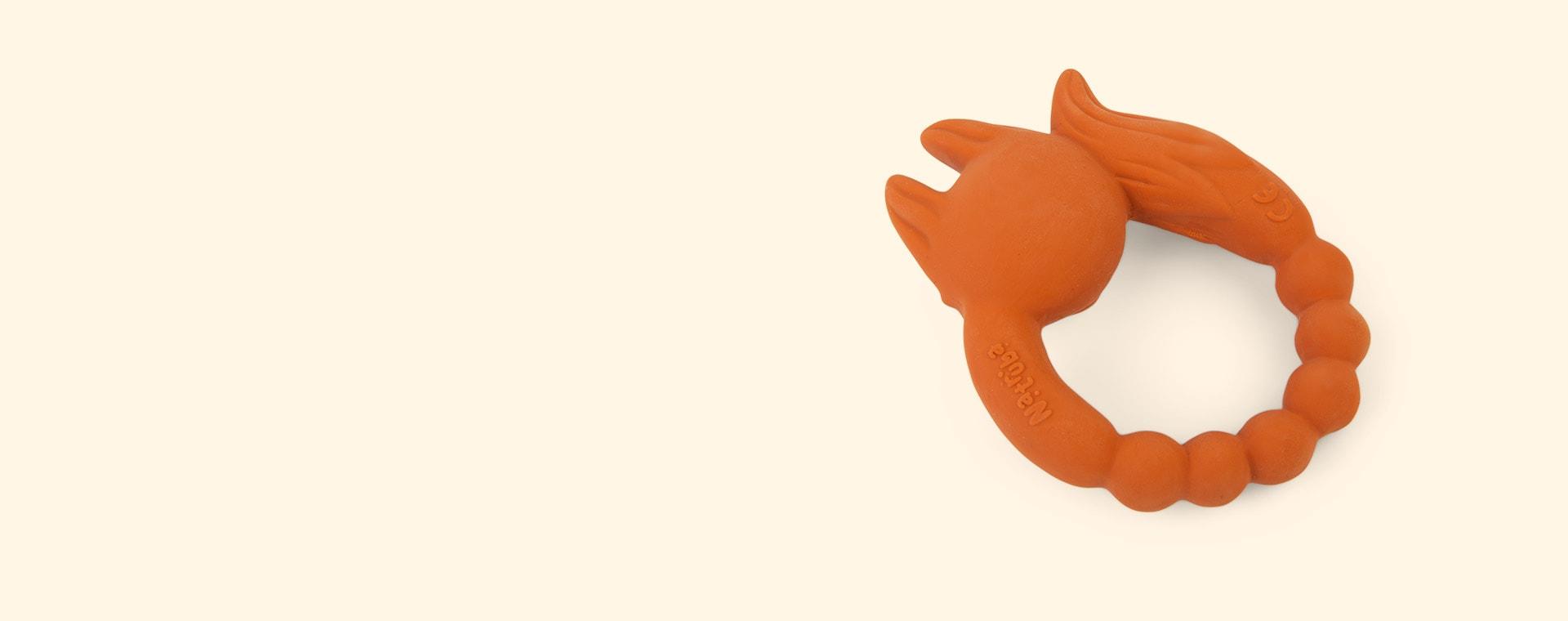 Orange Natruba Fox Teether