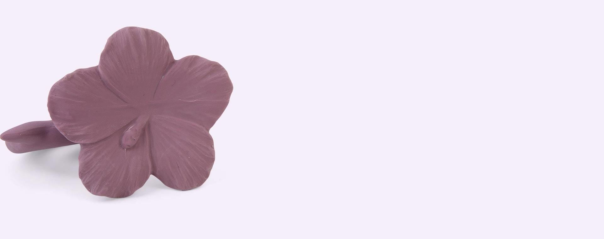 Purple Natruba Hawaii Flower Teether