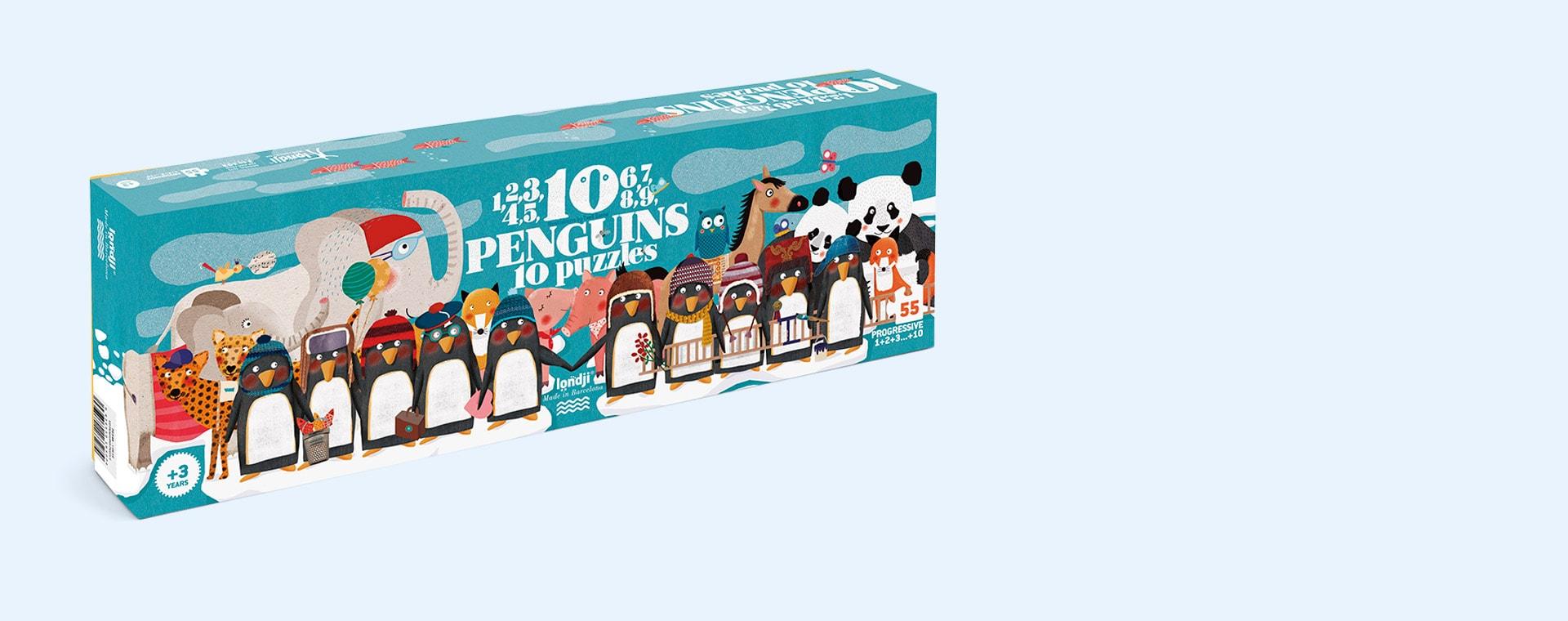 Multi Londji 10 Penguins 10 Puzzles