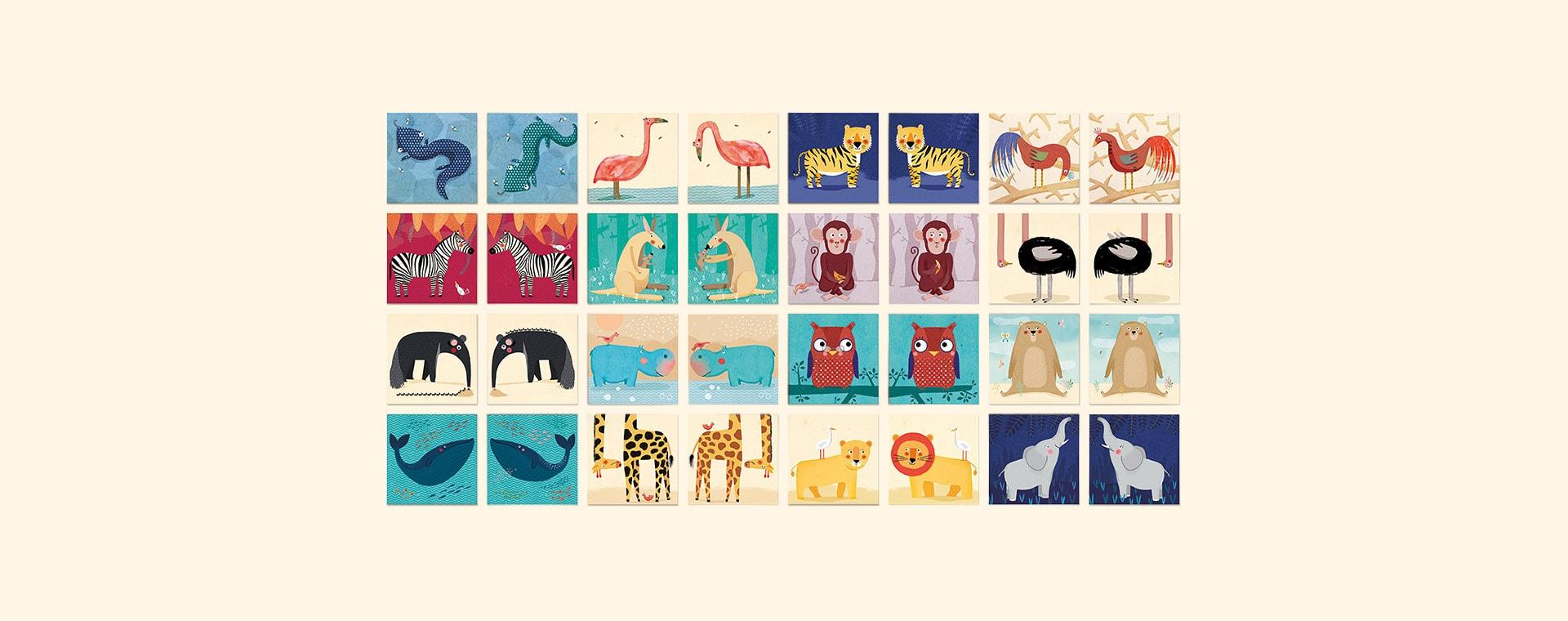 Multi Londji Wild Animals Memory Game