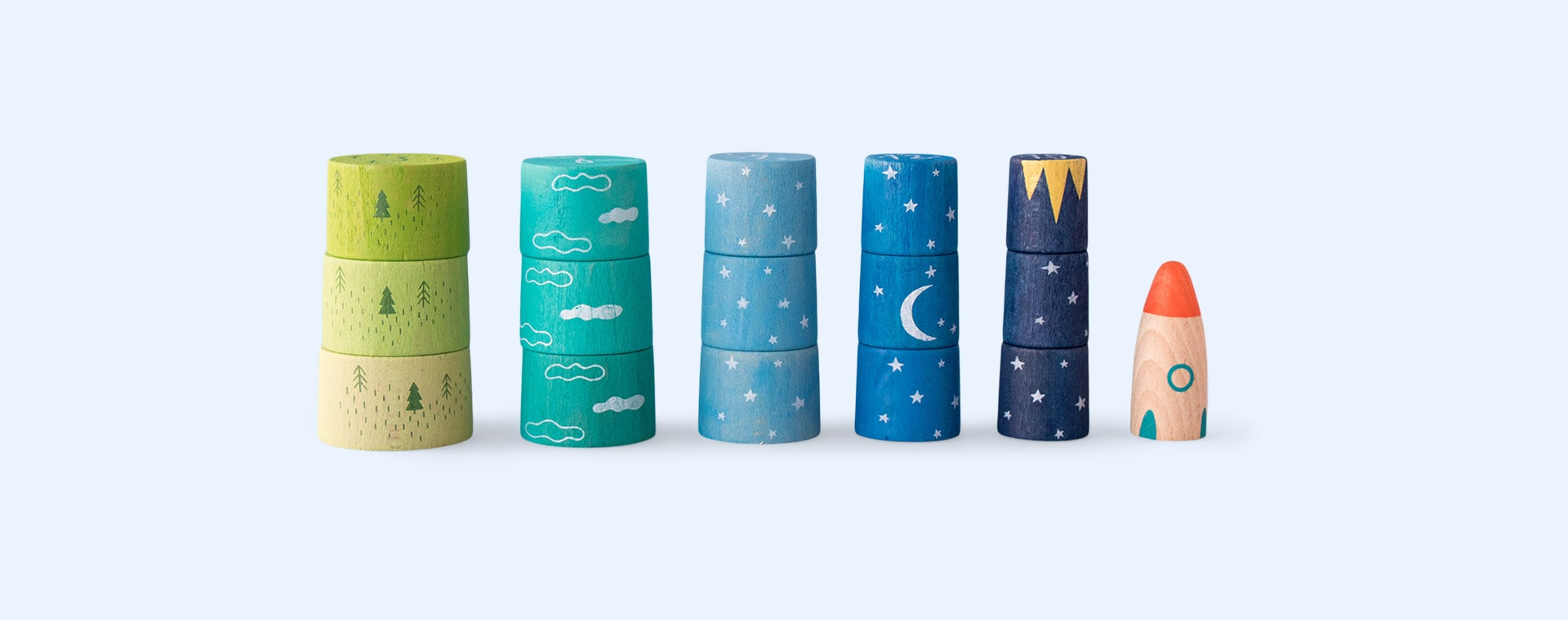 Multi Londji Up To The Stars Stacking Game