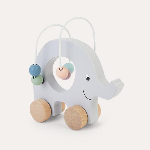 Grey Jabadabado Pull Elephant Abacus