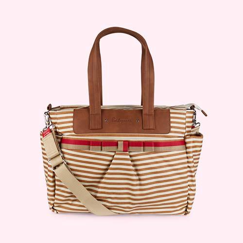 Stripe Tan Babymel Cara Changing Bag