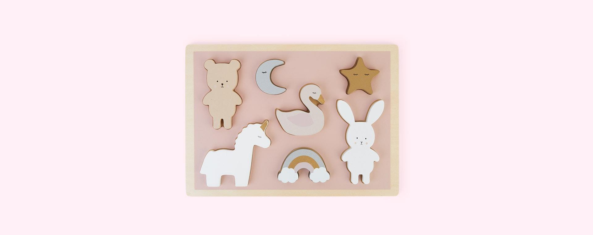 Multi Jabadabado Wooden Puzzle Unicorn