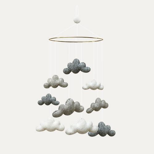 Grey Gamcha Clouds Mobile