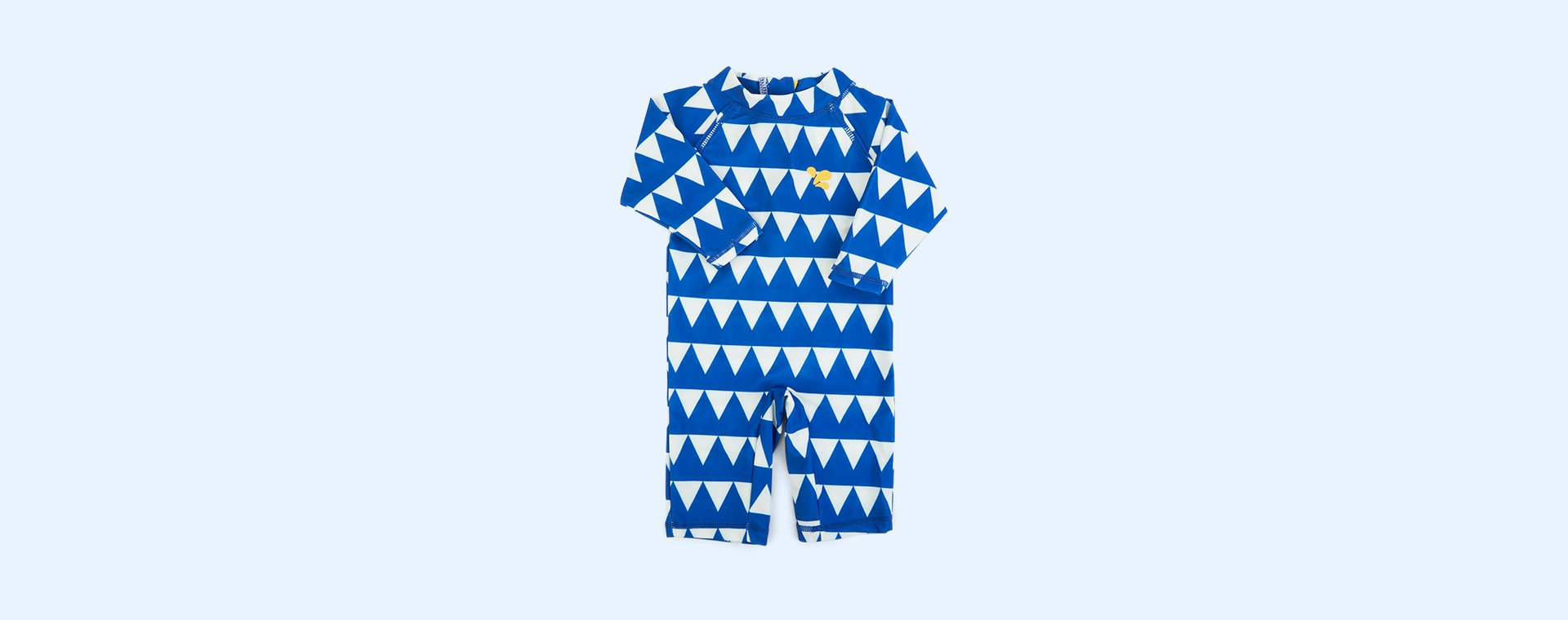 Blue Triangles Muddy Puddles UV Protective Surf Suit