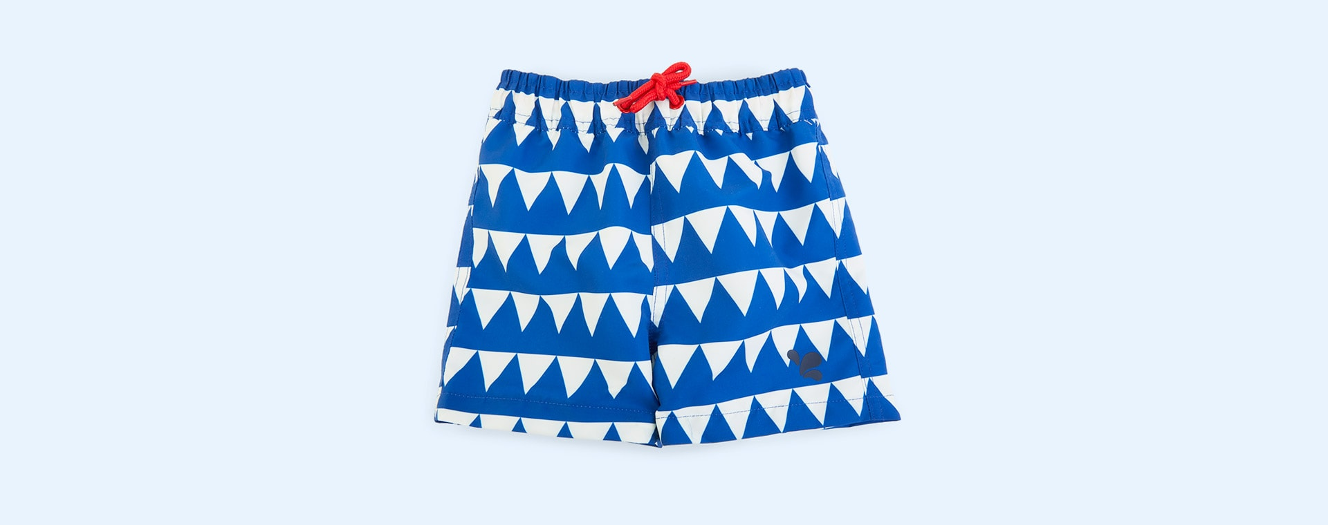 Blue Triangles Muddy Puddles UV Protective Shorts