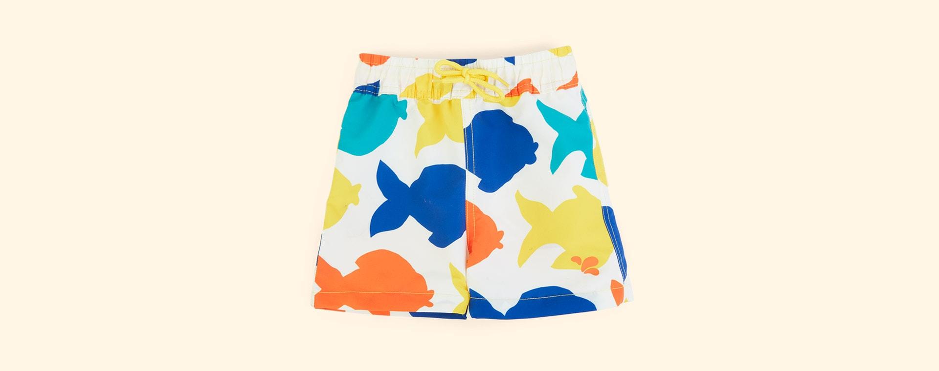 White Fish Muddy Puddles UV Protective Shorts