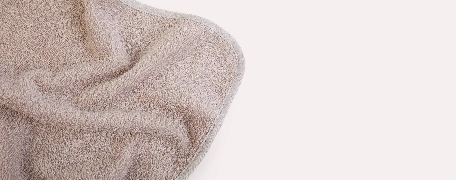 Pure Grey Little Dutch Hooded Towel