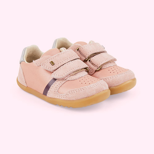 Dusk + Silver Pearl Bobux Step Up Riley Retro Trainer