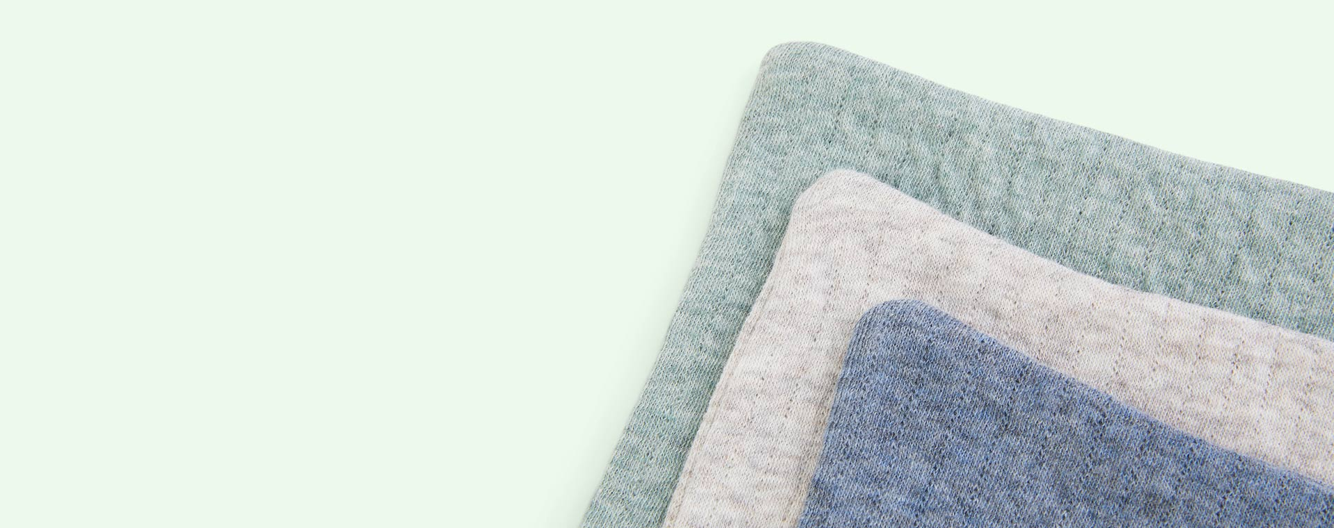 Pure Mint / Blue Little Dutch 3-pack Washcloths