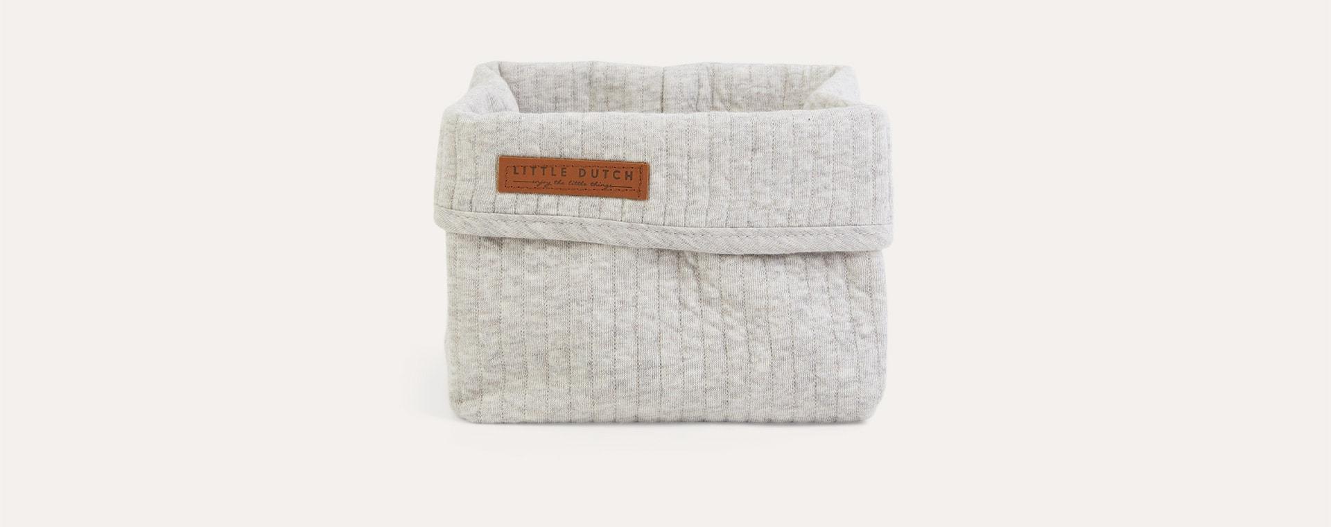 Pure Grey Little Dutch Baby Storage Basket Small