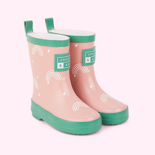 Pink Grass & Air Rainbow Colour Revealing Wellies