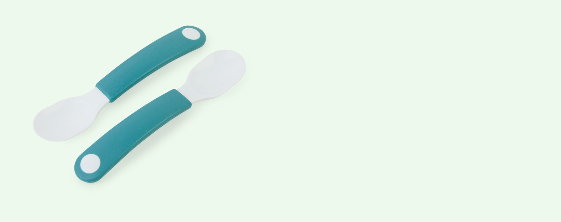 Deep Turquoise Mepal 2-Pack Trainer Spoon Set Mio