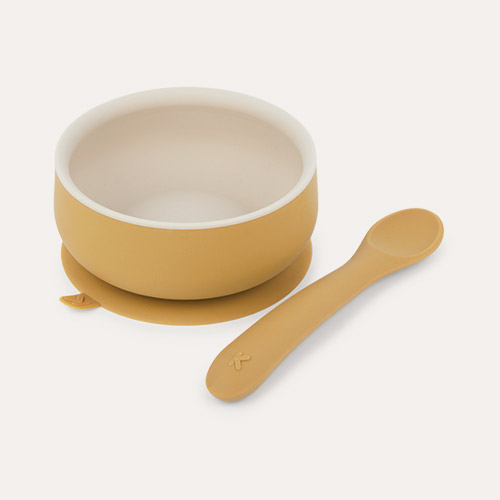 Toffee Mix KIDLY Label Suction Bowl & Spoon Set
