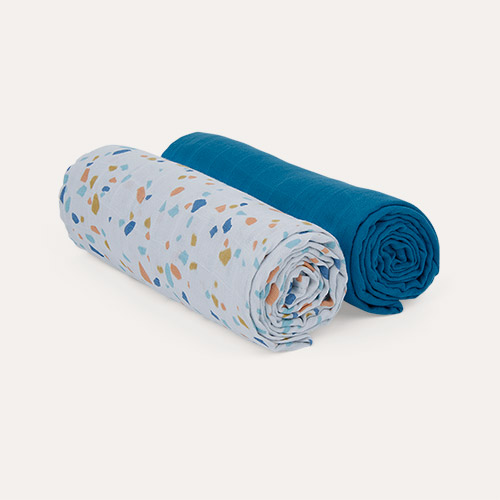 Terrazzo KIDLY Label 2-Pack Swaddle Blankets