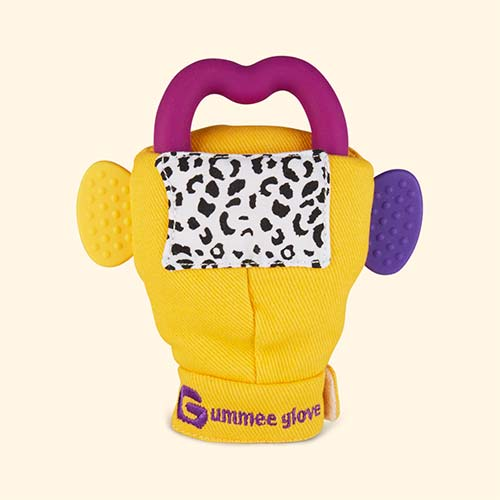 Yellow Gummee Glove Teething Mitten Glove