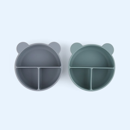 Whale Blue Mix Liewood 2-Pack Connie Divider Bowl