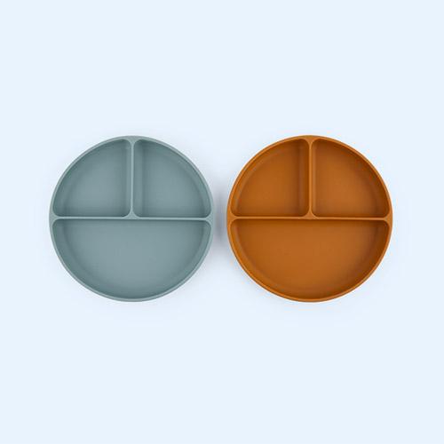 Peppermint/Golden Caramel Mix Liewood 2-Pack Harvey Divider Plate