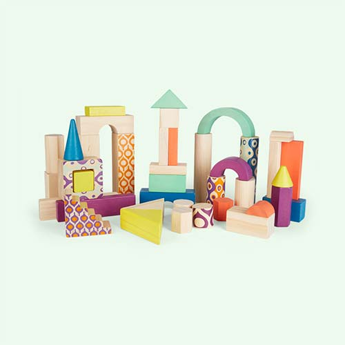 Multi B. toys Wood U Build It Blocks