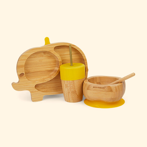 Yellow eco rascals Elephant Tableware Set
