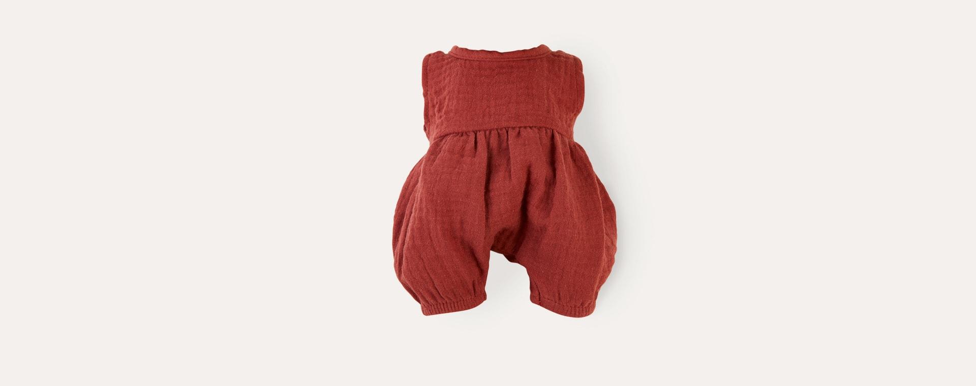 Brick Red Minikane Noa Romper