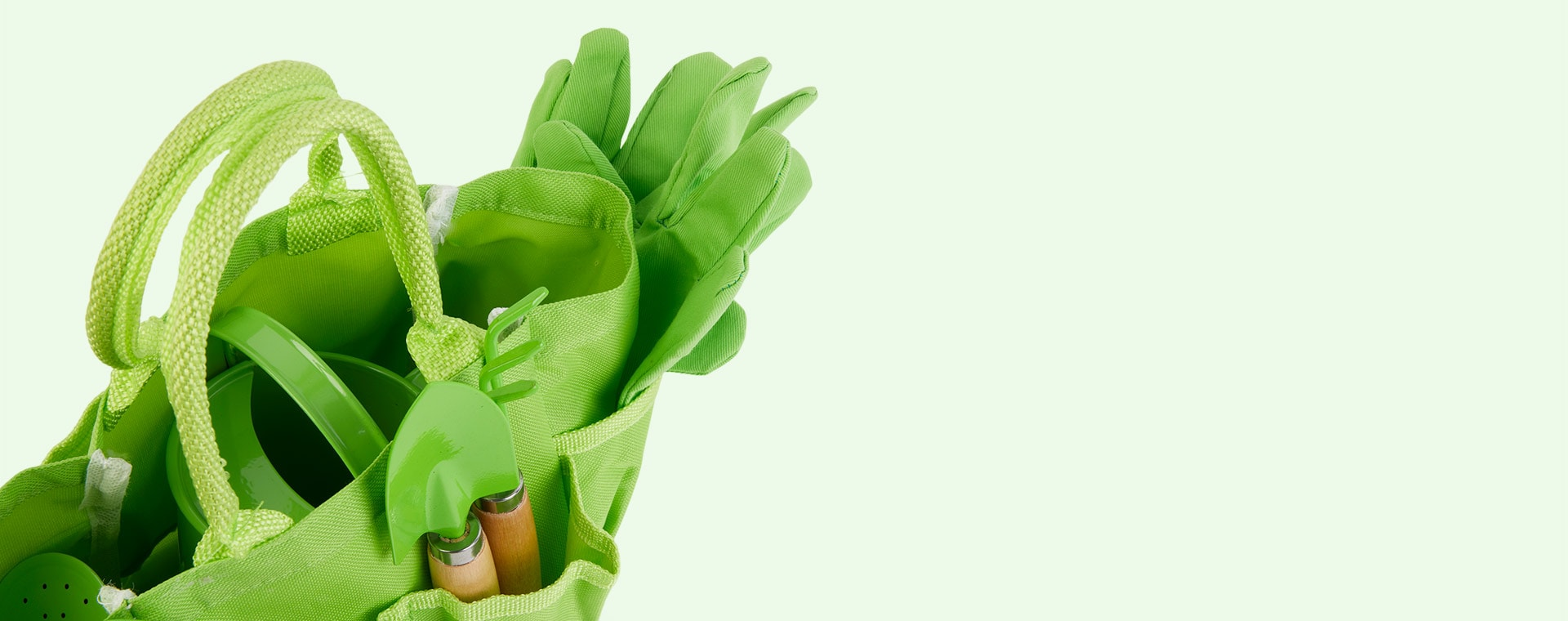 Green Bigjigs Small Tote Bag with Tools