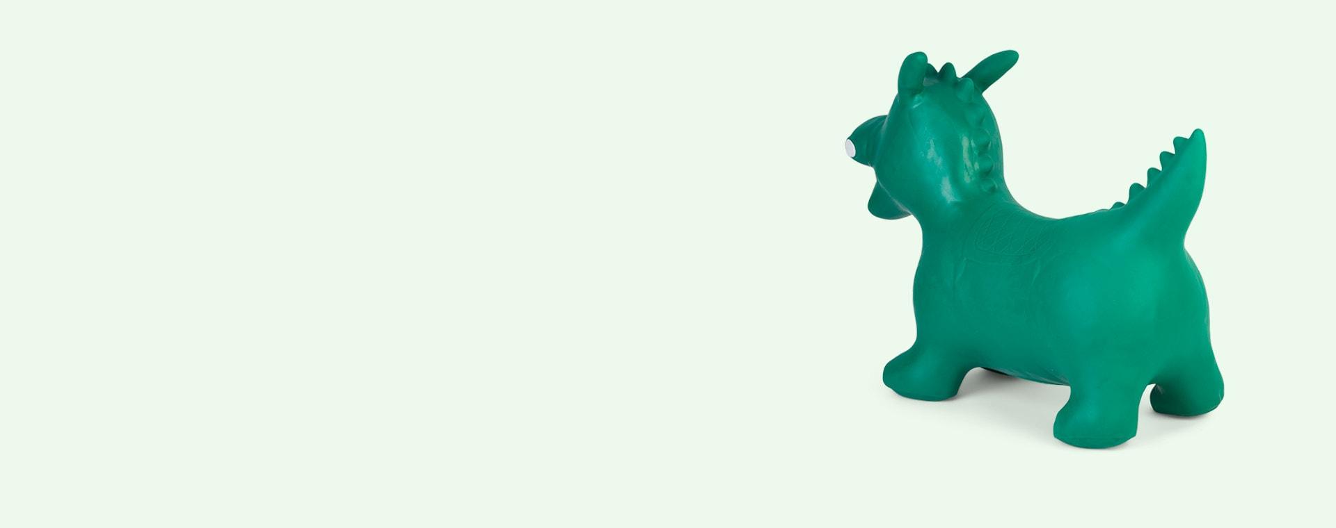 Green Happy Hopperz Green Dino