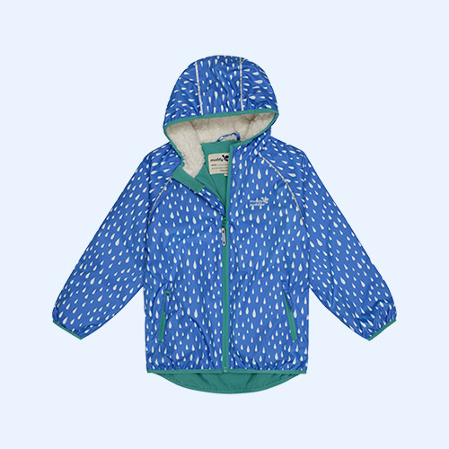 Blue Raindrop Muddy Puddles EcoSplash Jacket
