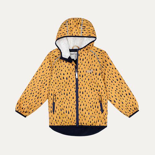 Mustard Raindrop Muddy Puddles EcoSplash Jacket