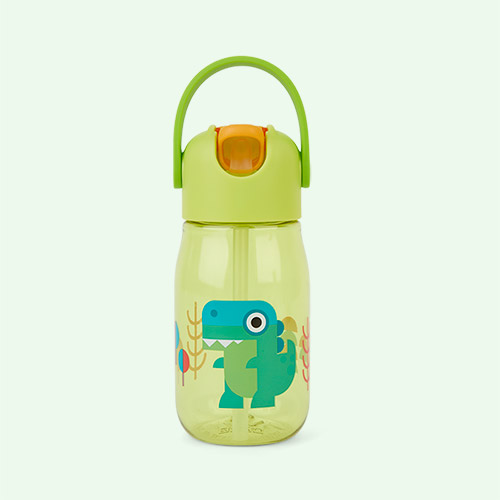 Dino Zoku Kids Flip Straw Bottle