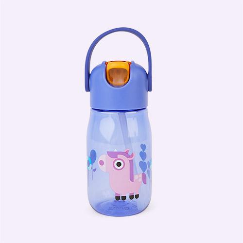 Unicorn Zoku Kids Flip Straw Bottle