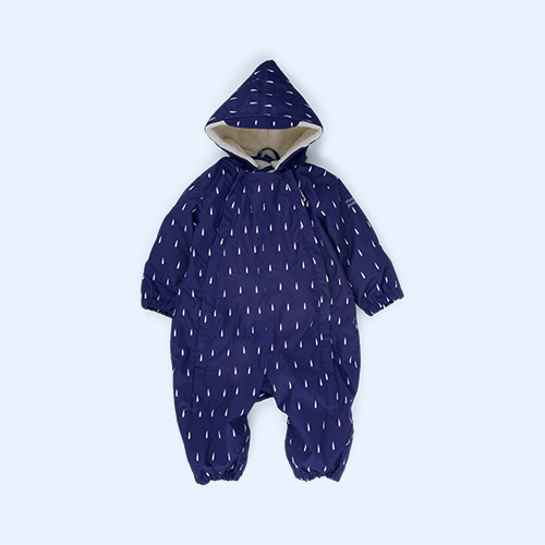 Navy Raindrop Muddy Puddles 3 in 1 Scampsuit